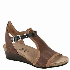 Naot Leather Fantasy Fiona Wedge Sandal Size 40